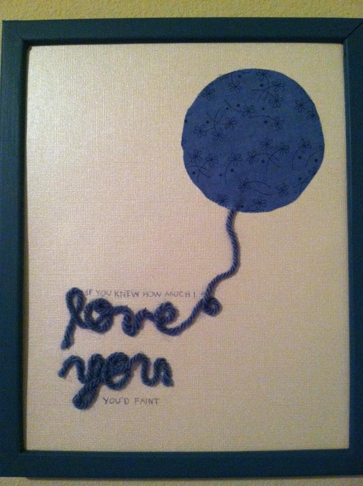DIY baby nursery wall art balloon yarn
