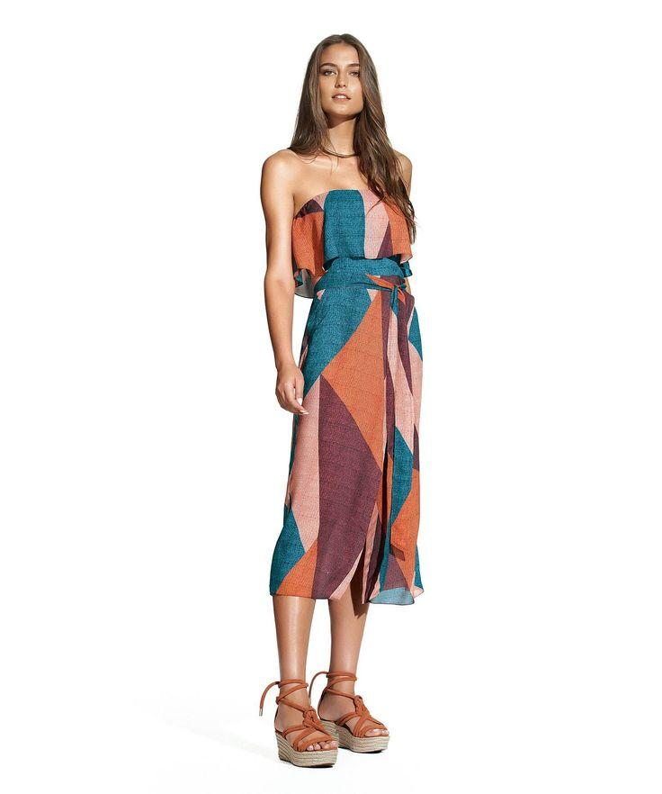 Ananda Strapless Dress,ViX Swimwear, Brazilian Bikini, Swimwear, Two Piece, Vacation, Beach, Resort wear, Brazil, Patterns, Resort 2017