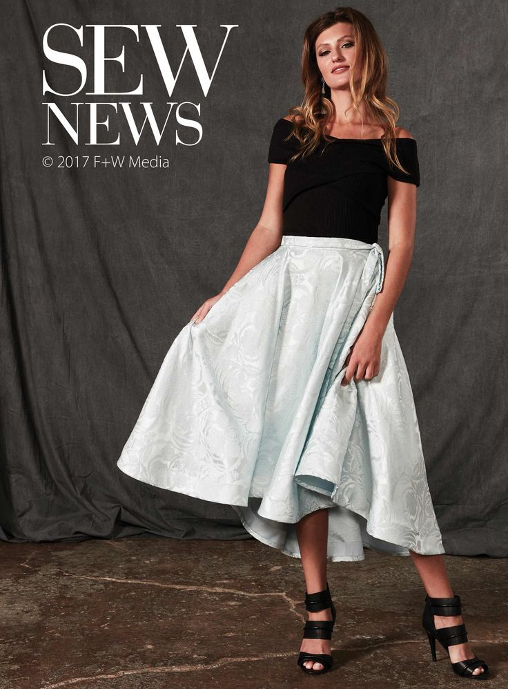 Your new favorite holiday skirt is only a day away. Learn how to draft a circle skirt pattern with a fishtail hem, side seam pockets and a flouncy horsehair braid hem.  Download the pocket template here until January 31. After that time please head to shopsewitall.com to purchase.  Be sure to check out the great articles, expert how-tos and fun projects in the newest issue of Sew News Dec/Jan 2018.