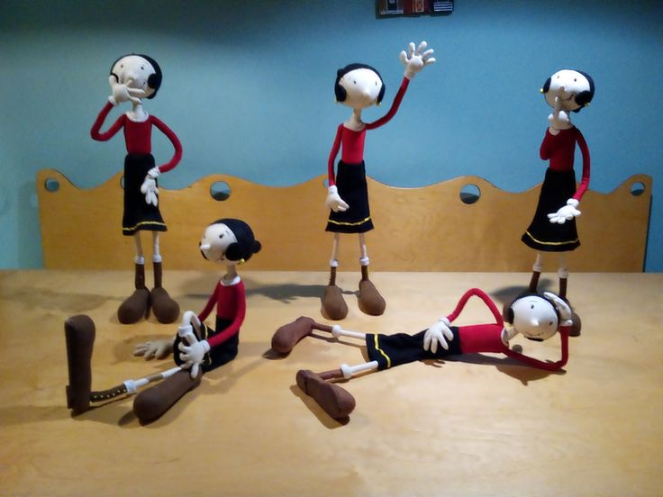 έργα μαθητριών από την teapot (handmade creatures).