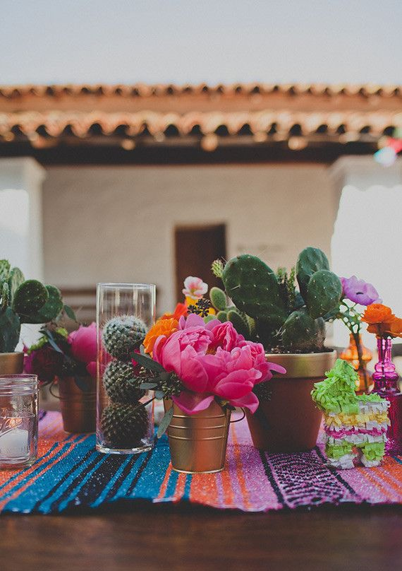 254 best mexican wedding images on pinterest mexican weddings this but with dark table runner mexican wedding centerpieces junglespirit Images