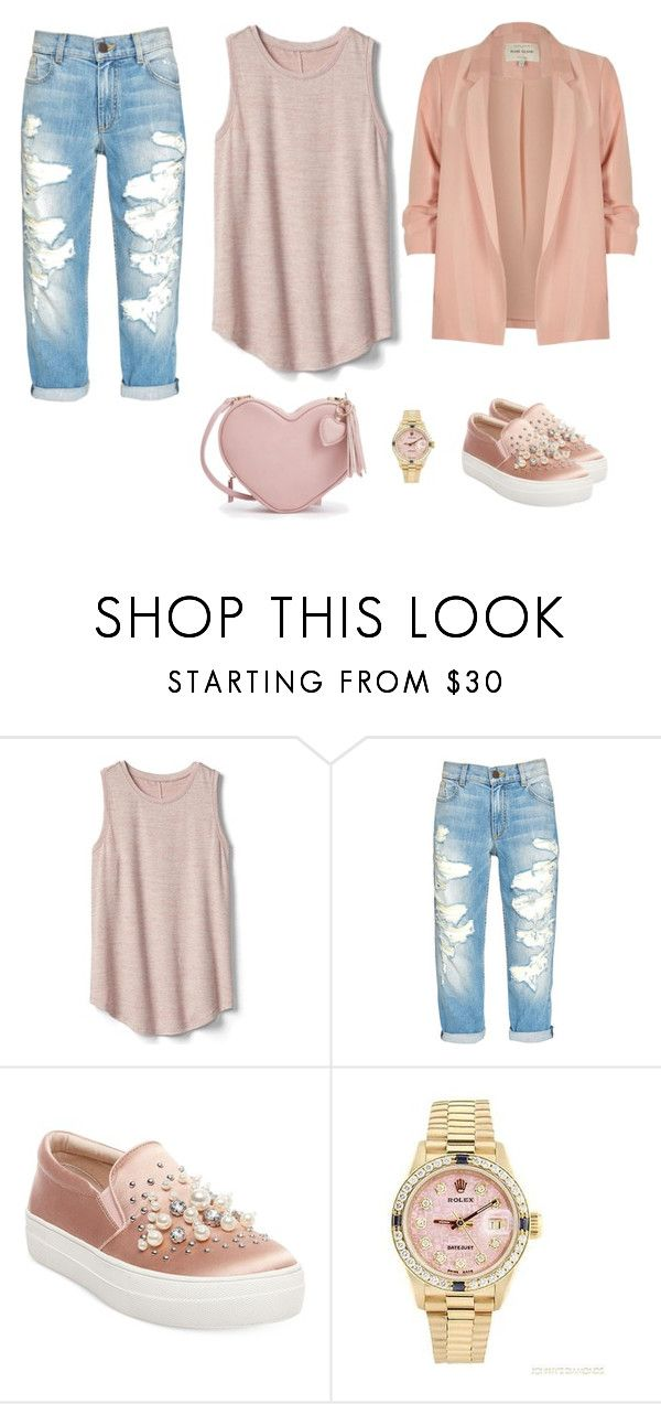 """Go out"" by monika1555 on Polyvore featuring Gap, Steve Madden, Rolex and River Island"