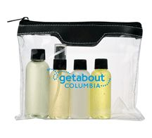 Air Safe Toiletry Kit. For details on how to order this item with your logo branded on it contact ww.fivetwentyfour.ca