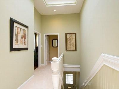 Pastel Green Hallway Love The White On Chair Rail