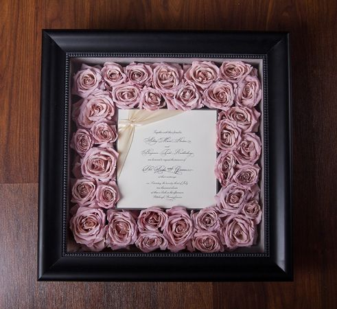 47. Wedding Invitation framed with flowers 14