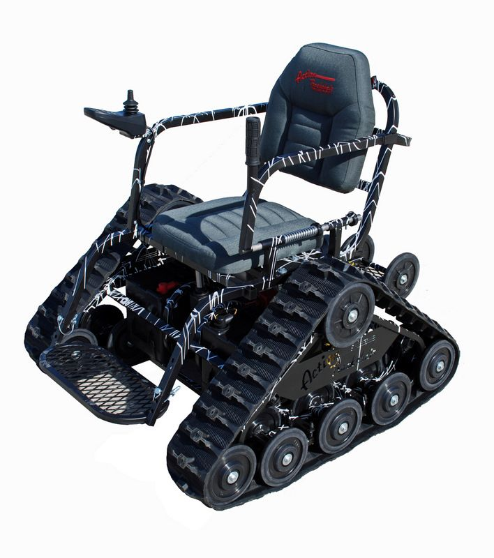 Action trackchair is an all terrain wheelchair the ads for All terrain motorized wheelchairs