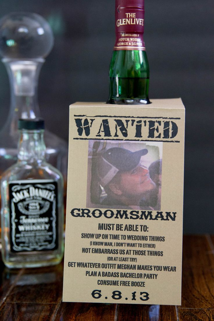 Customizable Will you be my groomsman bottle by meghanhenrydesign