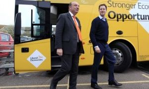 Liberal Democrat leader Nick Clegg and Norman Baker (left) in Newhaven. Baker had held Lewes since 1997.