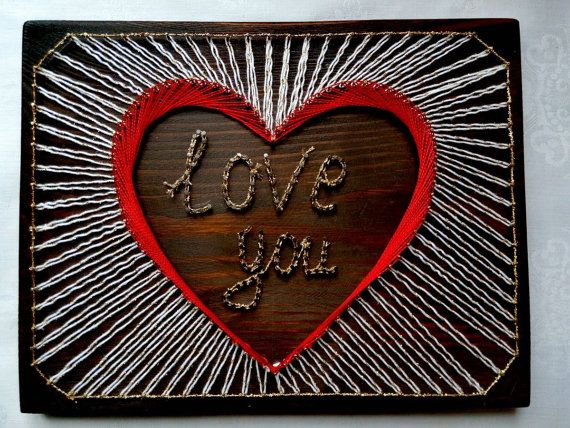 String Art Heart CUSTOM Heart String Art Love by UnforgettableMan