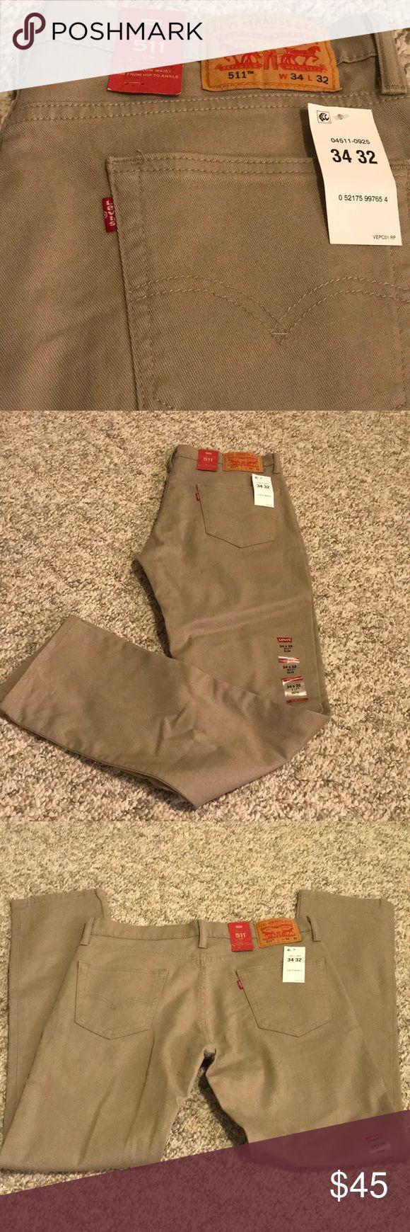 Men's Levi's 511 slim khaki pants W34 W32 NWT slim fit khakis Levi's Pants