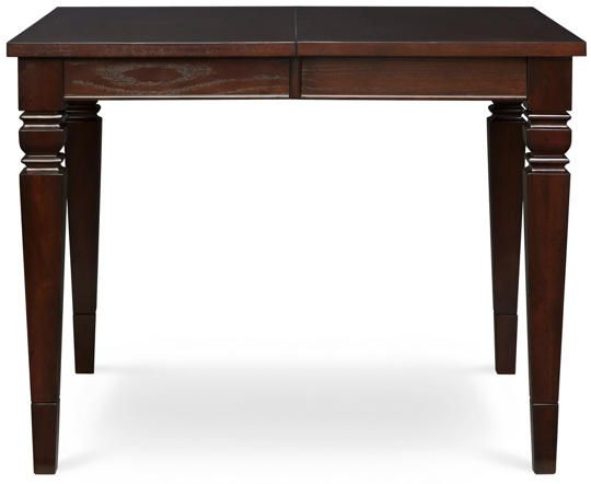 The Allis Leg Table Is X And Extends To With The Two Included Leaves  Inserted. The Allis Table Converts From To High With The Addition Of Leg  Extenders.