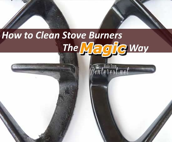 how to clean cast iron stove burners