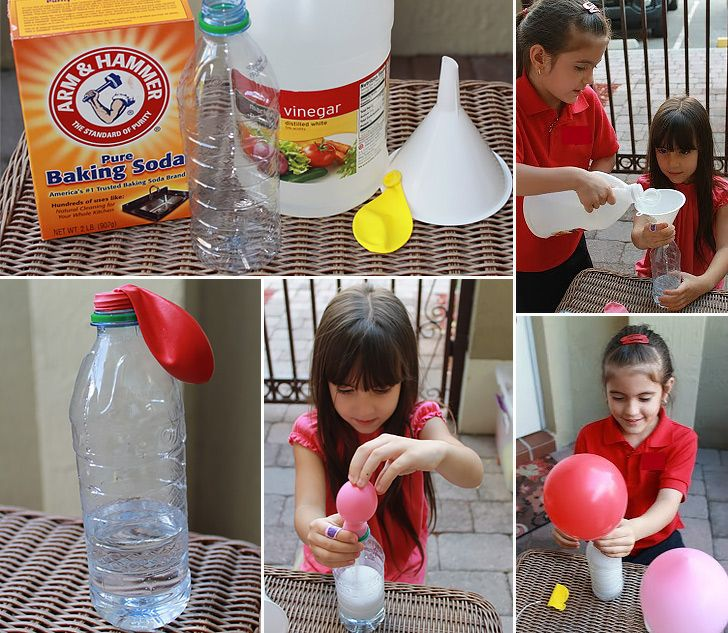 Balloon Inflated with Baking Soda and Vinegar - Handimania