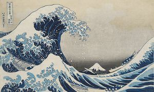 Thrilling seascapes … Hokusai's Great Wave.