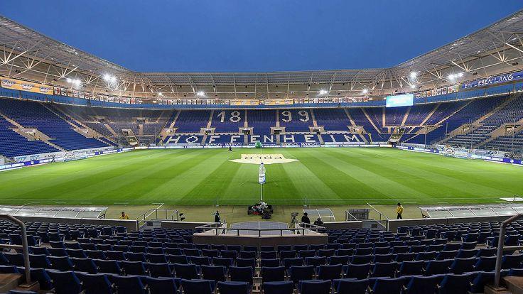 @Hoffenheim Die Wirsol Rhein-Neckar-Arena ist ein Fußballstadion in Sinsheim, Baden-Württemberg. Seit der Fertigstellung Anfang 2009 ist das Stadion die Heimstätte des Fußball-Bundesligisten TSG 1899 Hoffenheim. #9ine