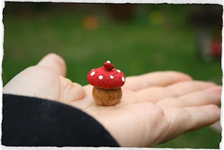 Acorn Toadstools; would be cute for doll or fairy garden accessories