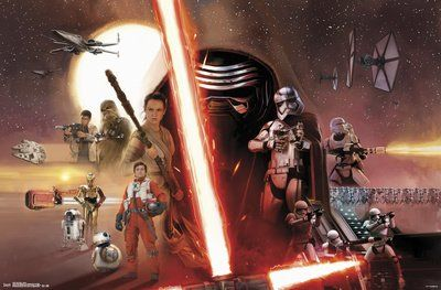 (22x34) Star Wars Episode VII - Group Poster @ niftywarehouse.com #NiftyWarehouse #Geek #Products #StarWars #Movies #Film