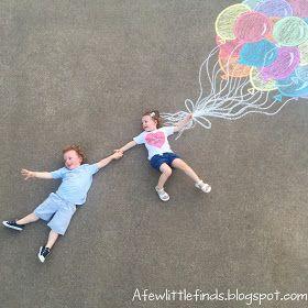 A Few Little Finds: Sidewalk Chalk Art  – Parties themes