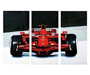 Composizione di 3 tele dipinte a mano Potenza e velocita' - 30x60 cm