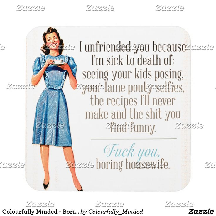 Colourfully Minded - Boring Housewife - Coaster