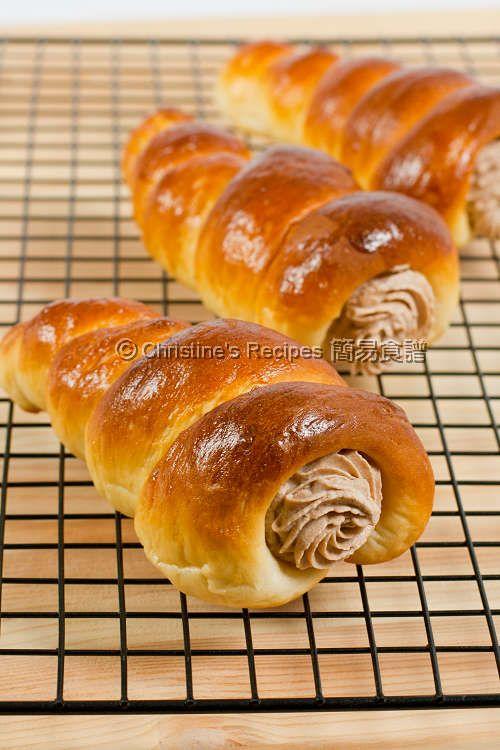 Nutella Cream Horns Recipe (Christine's Recipes), dough made using TangZhong method