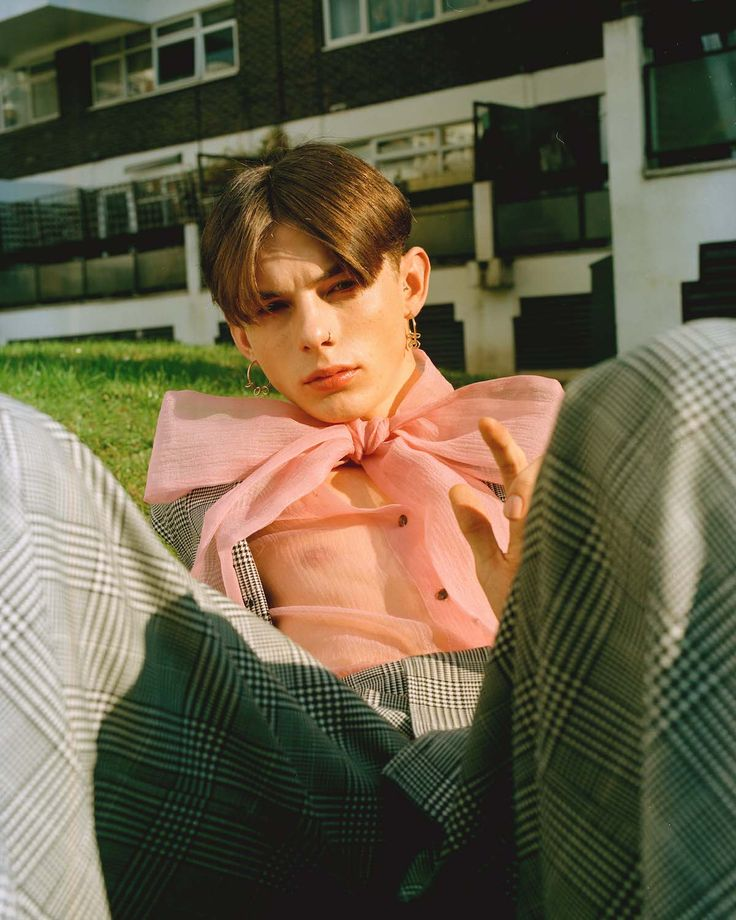 Where Do We Go From Here - Teeth Online x Teeth Magazine  Photographer: Pakbae Stylist: Yeon You Beauty: Jinny Kim Stylist Assistant: Jaewoo Shin Models: Clarice at Next, Kai at Models1  Blouse: Orla Kiely, Suit: Imogen Wright, Earrings: Justine Clenquet.