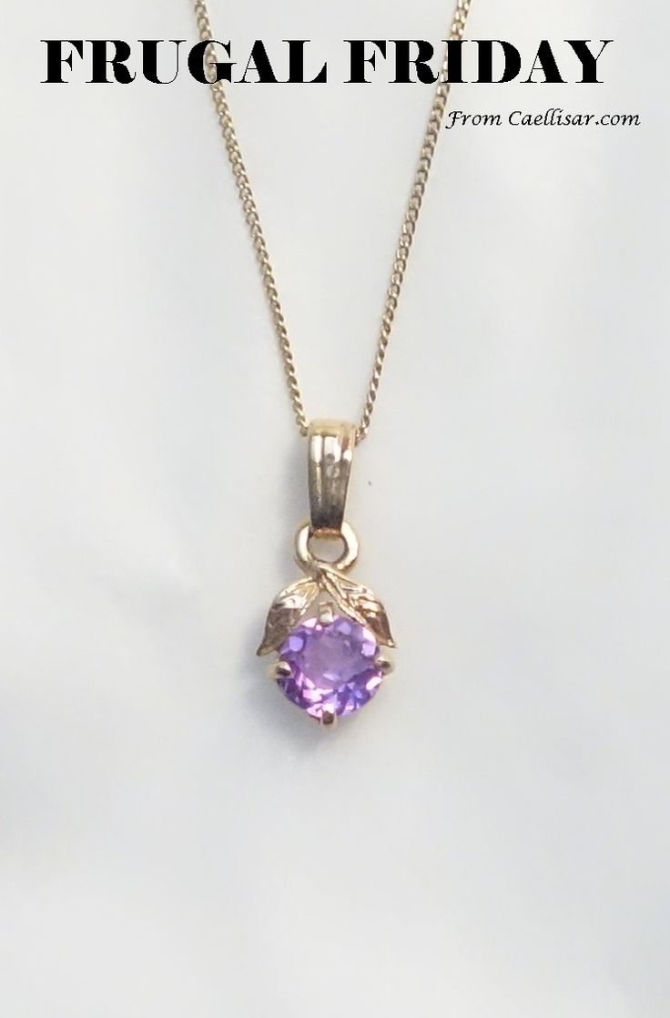 * Get this charming 10k Purple Stone Pendant and Chain for 61% off at http://caellisar.com/shop/charms/10k-purple-stone-pendant-and-chain.