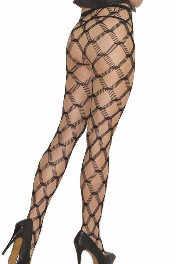 9a37351dcdfbf7 Seamless Diamond Net Pantyhose Hosiery Wide Fishnet Hose Black Footed Lace  Women#Pantyhose#Hosiery#Wide