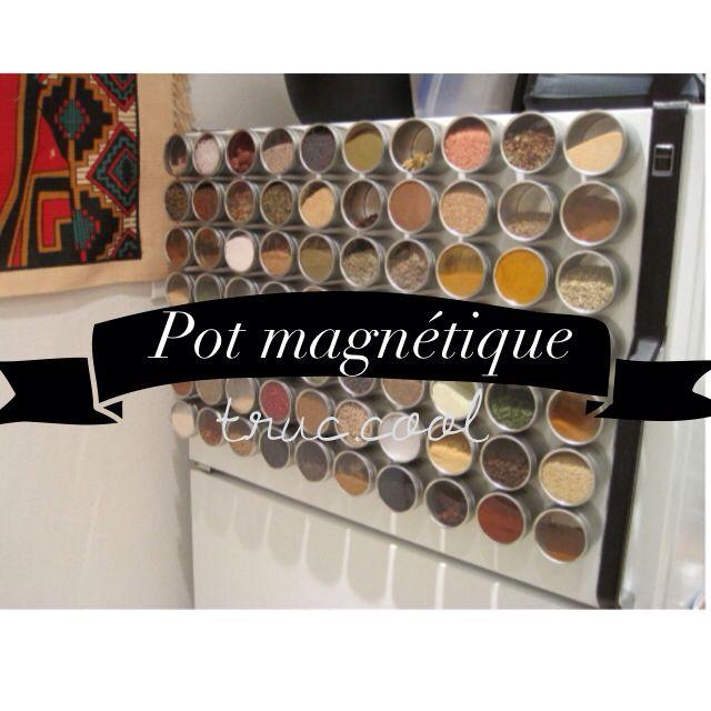 Rangement épices Aimanté: ~Pot Magnétique~ Coller Des Aimants En Dessous De Vos Pots