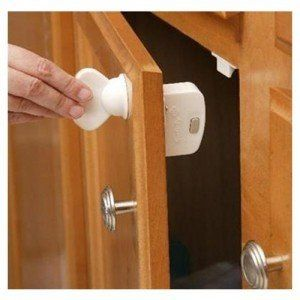 Free Cabinet Safety Latch Kit to baby proof your home Freebies-For-Baby.com