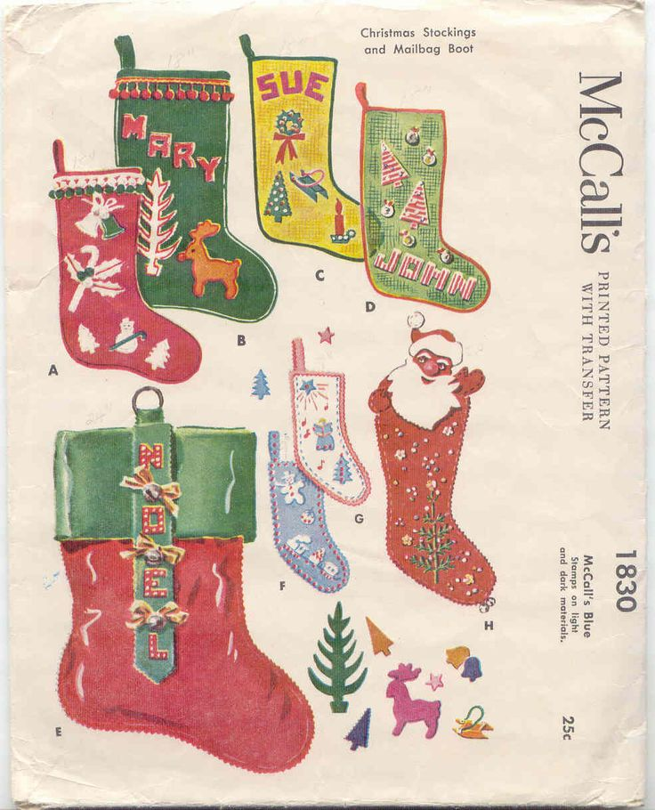 vintage swedish christmas stockings patterns | And I was so happy to find this one very recently, Simplicity 1803 ...