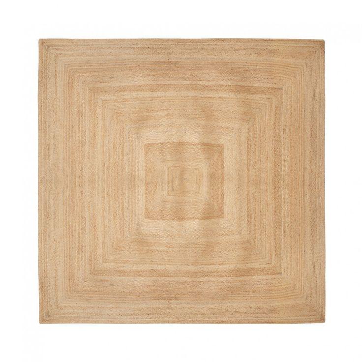 tapis en jonc tresse mod le carr rugs fabrics pinterest rugs jute rug et square rugs. Black Bedroom Furniture Sets. Home Design Ideas