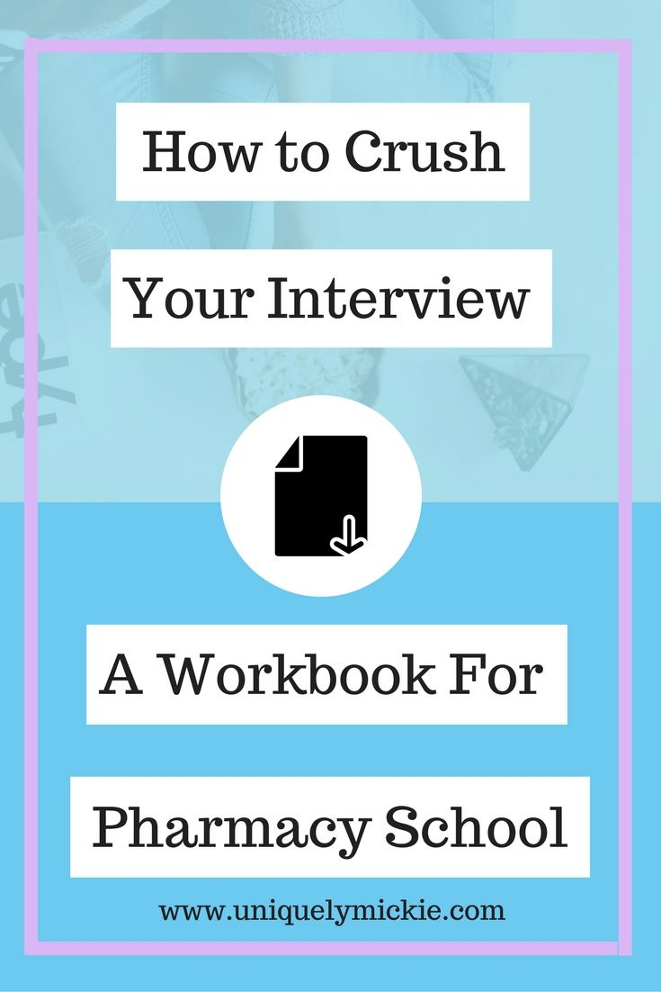 Get the FREE Pharmacy School Practice Interview Workbook! Easily get some practice with the types of questions you might be asked.