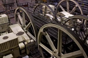 Cables and Winding Wheels in the Cable Car Museum - LatitudeStock - Emma Durnford/Getty Images