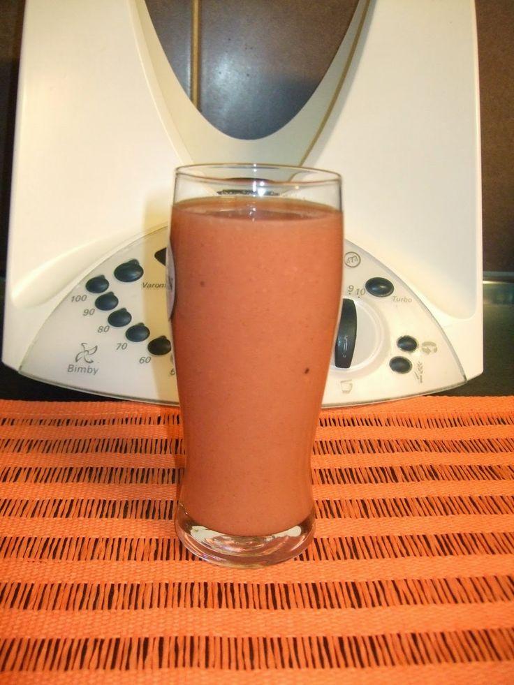 As minhas aventuras com a Bimby: Sumo de kiwi, papaia e morango