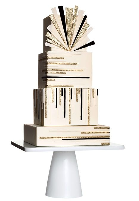 24 Pretty Perfect Art Deco Cakes - Aisle Perfect