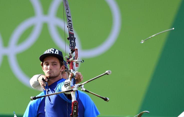 Day 1: Archery Men's Team - Zach Garrett of USA