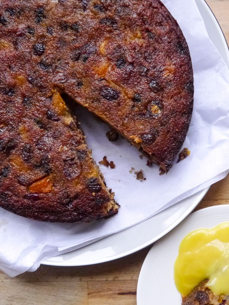 Gluten Free Boiled Fruit Cake With Crushed Pineapple