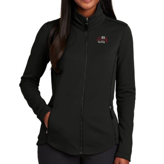 Custom Embroidered Fleece Jacket Personalised With Your Text Work Wear Jackets