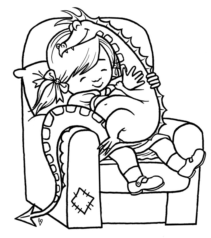 print out girl playing with toy dragon coloring page printable coloring pages for kids