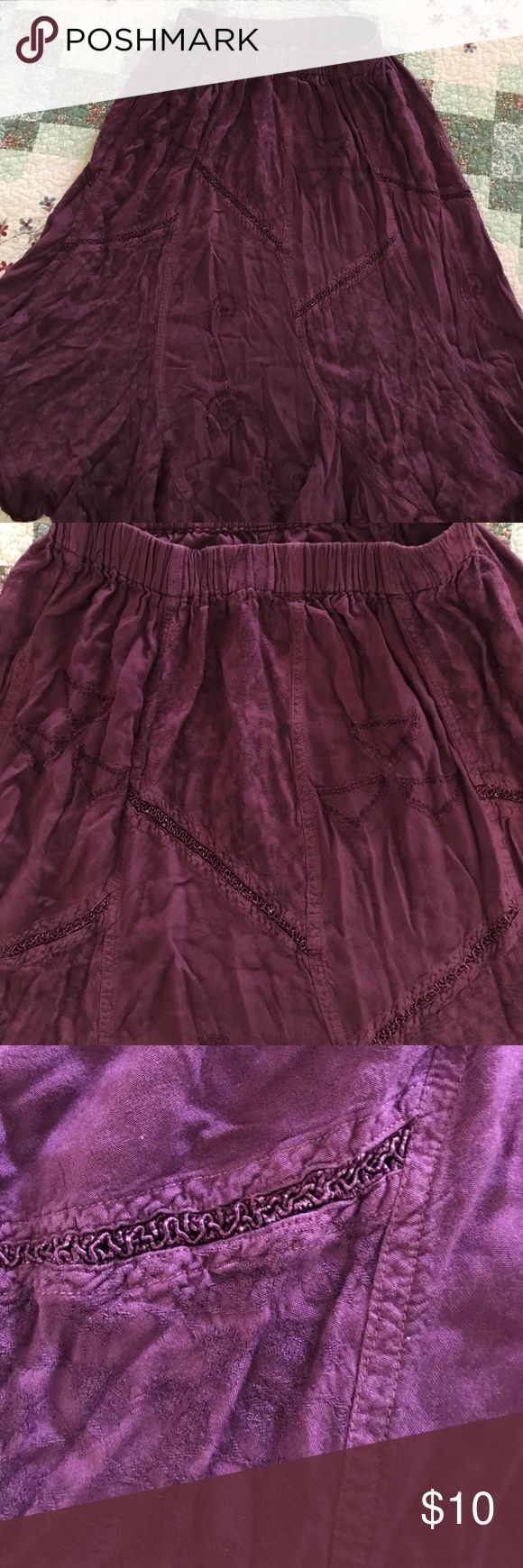 Southwestern Skirt Purple skirt, polyester southwestern skirt. Great with cowboy  boots. No Tag Skirts Midi