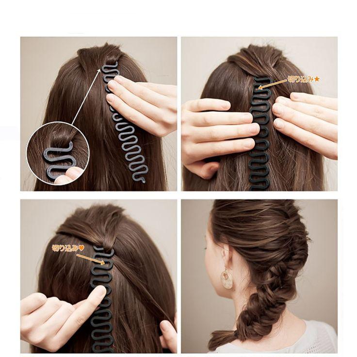 Hair Braider Curlers Braiding Tool Rollers With Magic hair Twist Styling Bun Maker Braid Maintenance braided hair styling tools