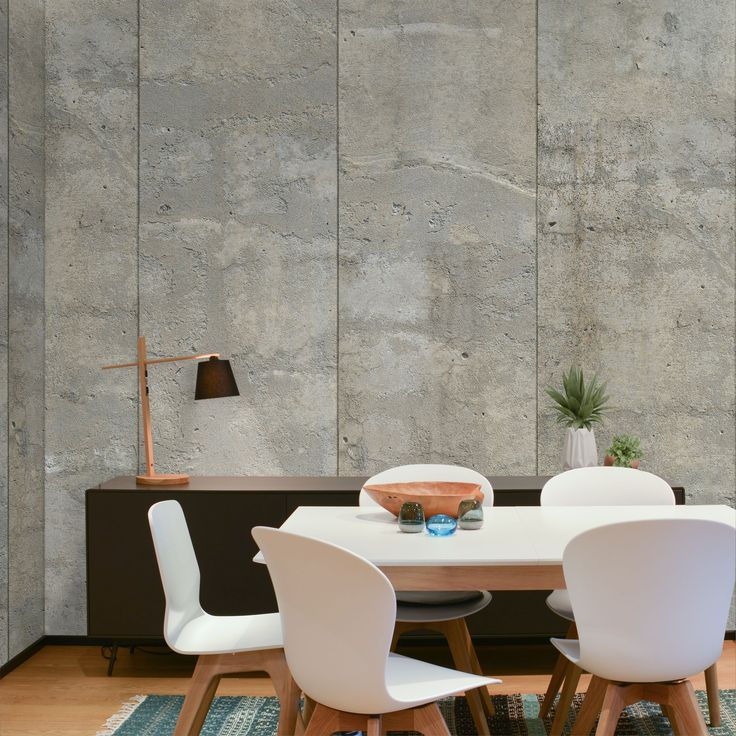 Concrete Sandy Natural Wallpaper by WYNIL: easy interior design ideas for an architectural, industrial, pure look in your home or office.