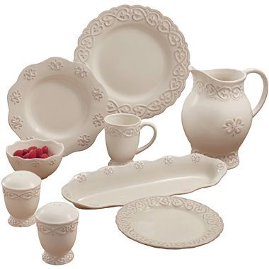 Adeline Dinnerware Collection - jcpenney  sc 1 st  Pinterest & 16 best Dinnerware images on Pinterest | Place settings Provence ...