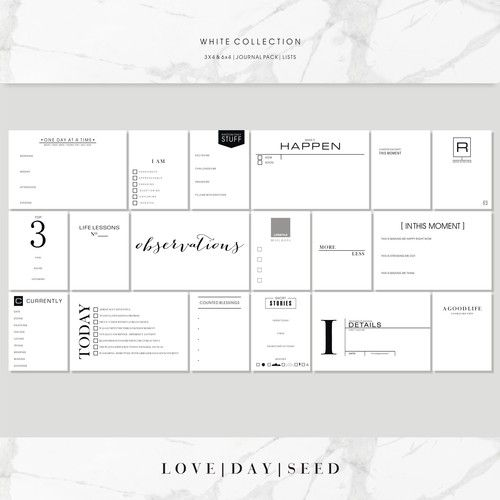 WHITE COLLECTION | JOURNAL | LISTS, $4.50