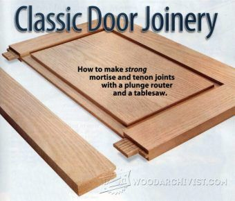 Cope and Stick Doors - Cabinet Door Construction Techniques | WoodArchivist.com
