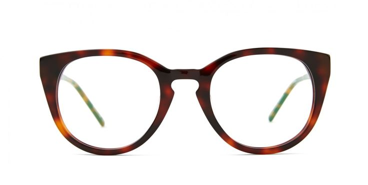 JUNEBUG I A little bit round - A little bit cat-eye - A lot of chic.Shiny acetate in Tortoise.