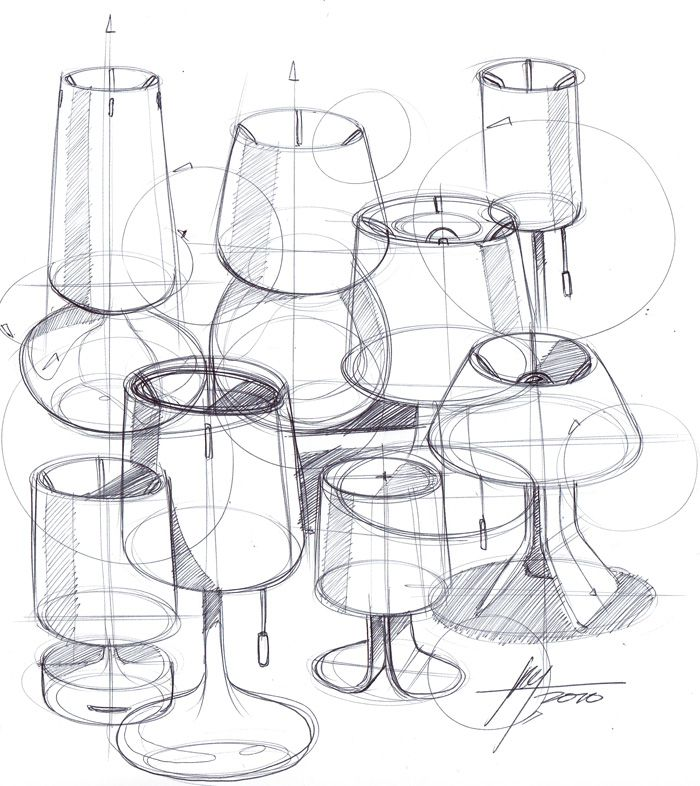 lamp sketch #id #design #product #sketch