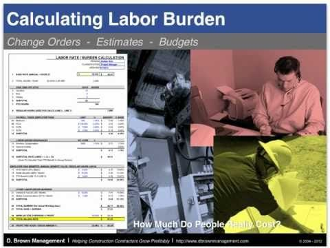 Labor Burden Calculation for Construction Contractors (Basic) - YouTube