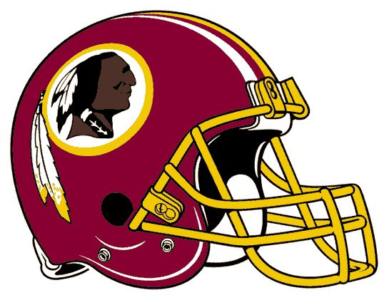 Redskinsdrawings | Washington Redskins Helmet Logo (1978) - Maroon with yellow facemask ...